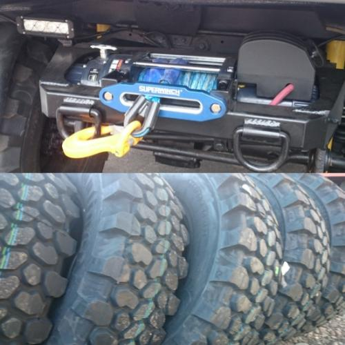 Winch, Tires, and Custom Wheels