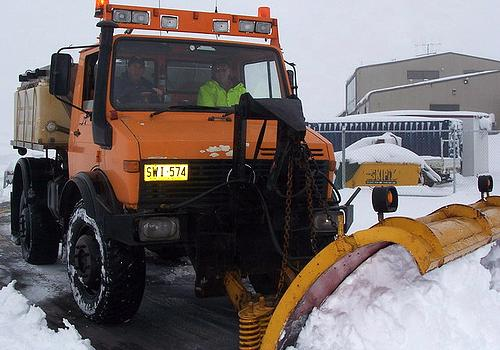 Mercedes Benz Unimog Snow Plow
