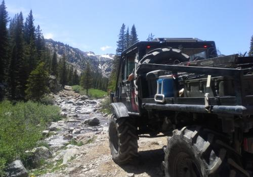 Unimog 1700 on trail at French Creek