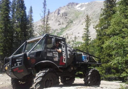Unimog 1700 BAM BAM in the mountains