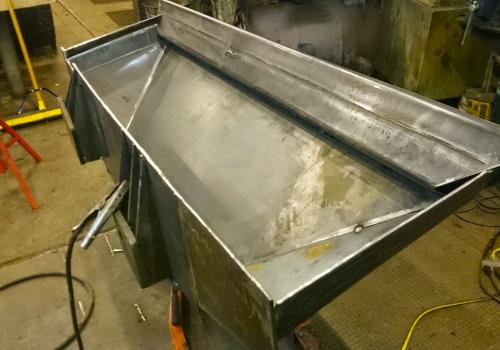 fabricating custom V-Hull Fuel Tank