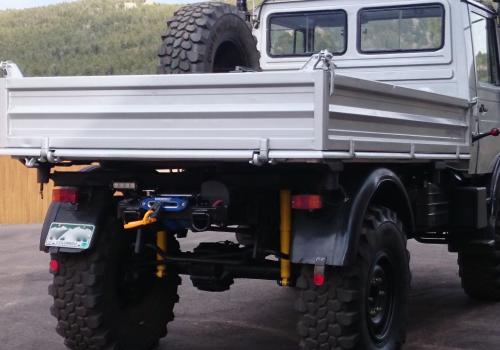 Superwinch Unimog 1300 Winch Rear mount fabrication