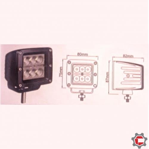 18W (6 3watt) Square LED Work Light for Unimog and Gwagen