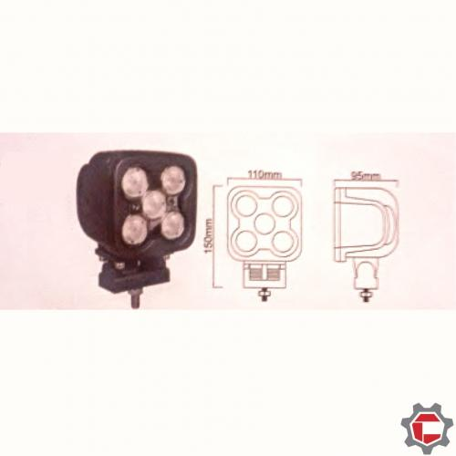 50W (5 10Watt) Square LED Working Light for Unimog and Gwagons