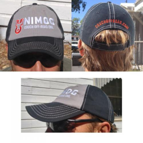 Couch Off-Road Baseball Hat Grey and Black