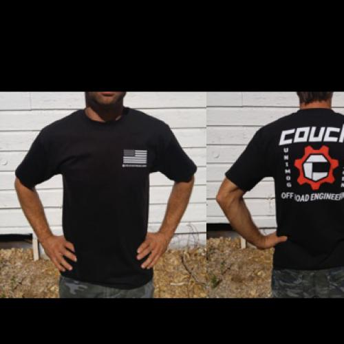 COUCH OFF-ROAD MENS T-SHIRTS BLACK AND RED