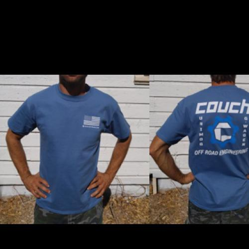 COUCH OFF-ROAD MENS T-SHIRTS BLUE WITH BLUE