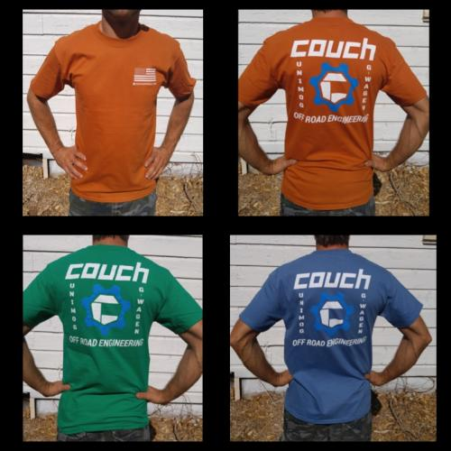 Couch Off Road Mens T-Shirts Orange, Blue, Green