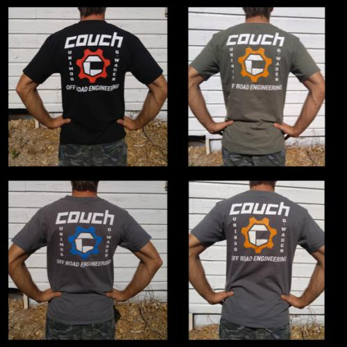 COUCH OFF-ROAD MENS T-SHIRTS GREY AND BLUE