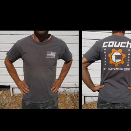 COUCH OFF-ROAD MENS T-SHIRTS GREY AND ORANGE