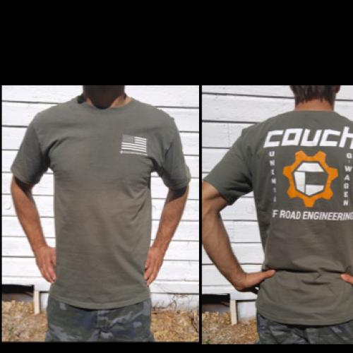 COUCH OFF-ROAD MENS T-SHIRTS HUNTER GREEN