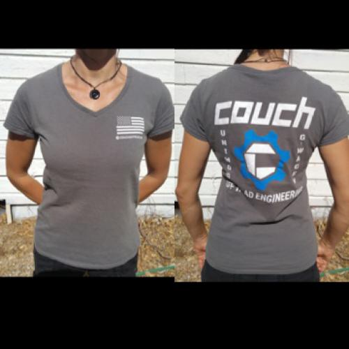 COUCH OFF-ROAD WOMANS T-SHIRT GREY