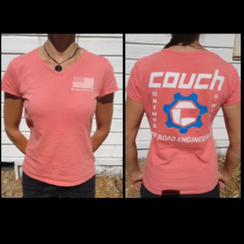 COUCH OFF-ROAD WOMANS T-SHIRT CORAL